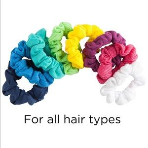 Variety Scrunchies multiple color hair tie 8 count